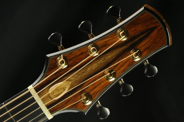 Headstock of Signature Series Custom Guitar by Doer